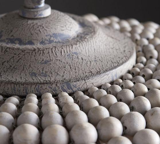 leila wood bead pendant pottery barn
