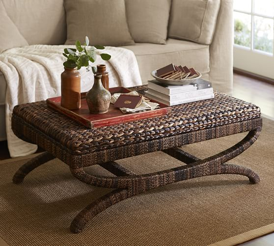 Coffee Table Or Ottoman: Seagrass Coffee Table Ottoman