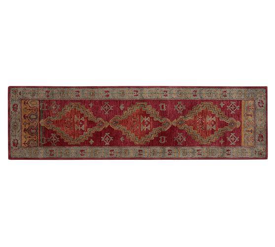Arlington Persian-Style Wool Rug, 2.5x9', Red