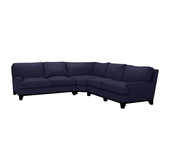 Seabury Upholstered 3 Piece L Shaped Sectional With Wedge
