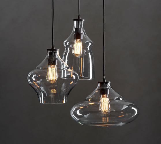 Glass Pendant Lights Pottery Barn : Mccarthy light glass pendant pottery barn