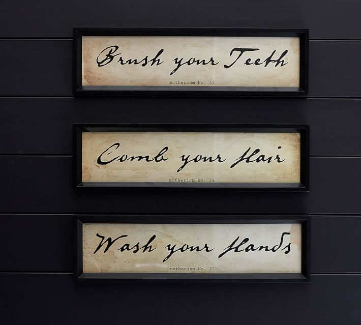 . Bathroom Wall Art  Set of 3   Pottery Barn