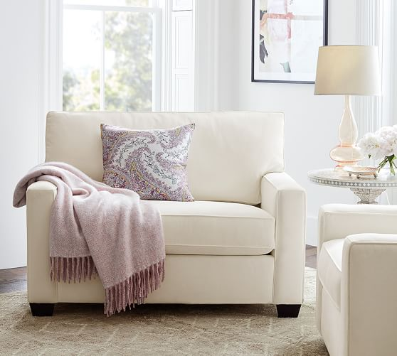 buchanan square arm upholstered twin sleeper sofa pottery barn. Black Bedroom Furniture Sets. Home Design Ideas