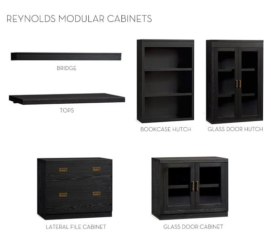 build your own reynolds modular cabinets pottery barn. Black Bedroom Furniture Sets. Home Design Ideas