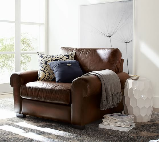 scroll to previous item - Leather Chair And A Half