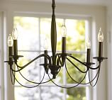 Graham Chandelier, 6-arm, Iron finish