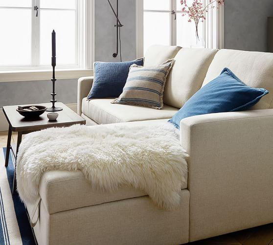 Stripe Fringe Pillow Cover Pottery Barn