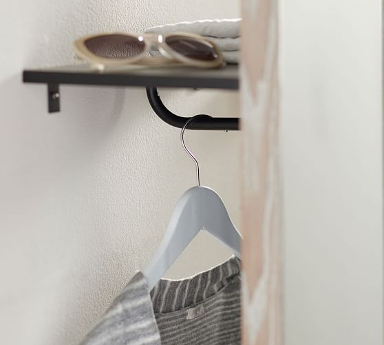 Clothing Rack With Floor Mirror Pottery Barn