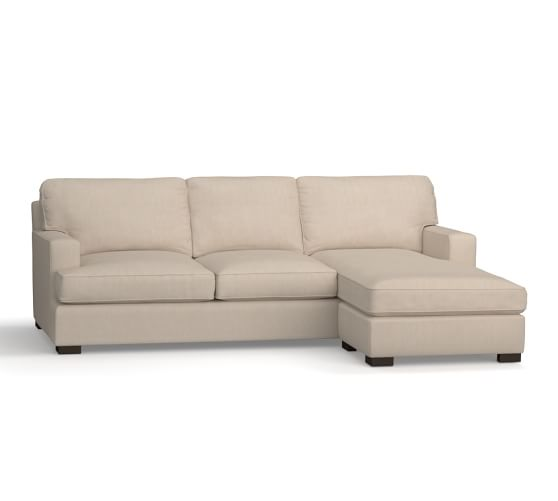 Townsend upholstered square arm sofa with reversible for Albany sahara sectional sofa chaise