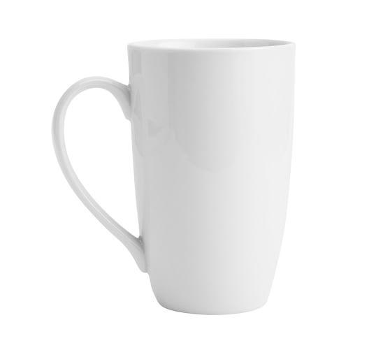 Great White Latte Mug, Set Of 4