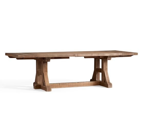 Stafford Reclaimed Pine Extending Dining Table Pottery Barn