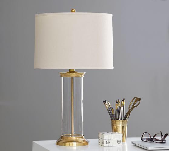 hurricane brass lamp base pottery barn. Black Bedroom Furniture Sets. Home Design Ideas