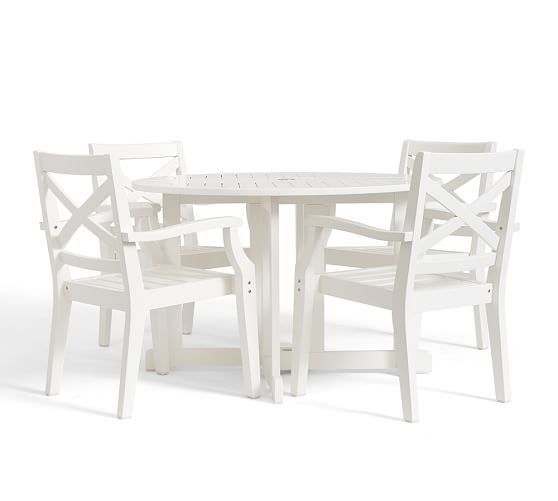 Hampstead Painted Round Drop Leaf Dining Table & Chair Set