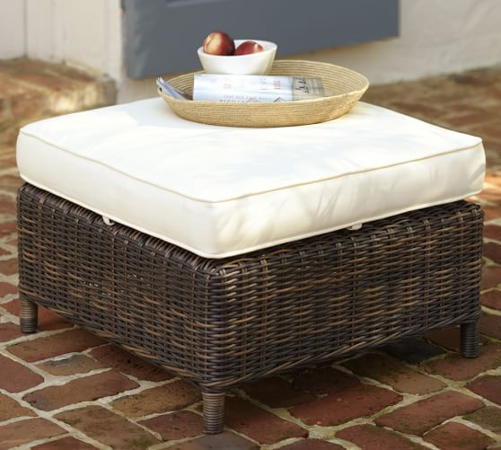 torrey all weather wicker occasional chair ottoman espresso pottery barn. Black Bedroom Furniture Sets. Home Design Ideas