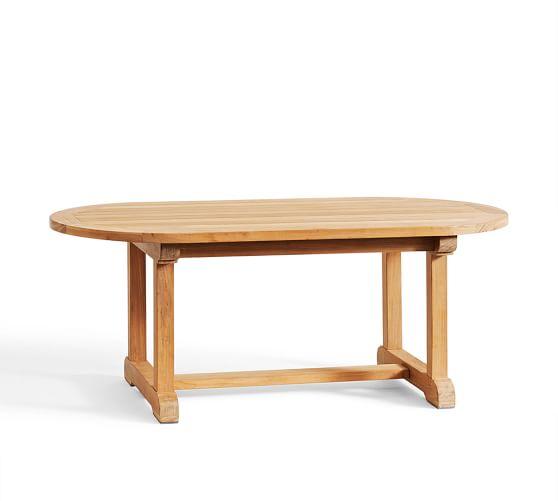 Teak Oval Coffee Table: Larkspur Teak Oval Coffee Table