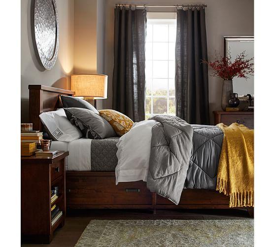 Linen Silk Comforter Amp Sham Pottery Barn