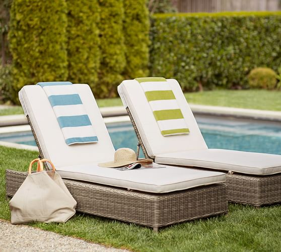 Torrey all weather wicker single chaise natural for All weather wicker chaise