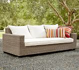 Torrey All-Weather Wicker Square Arm Grand Sofa, Natural