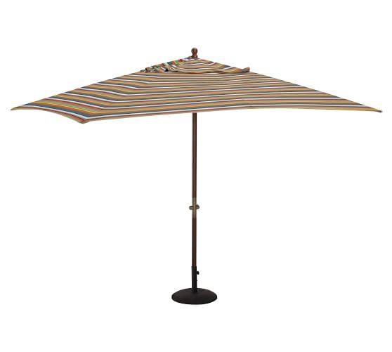 Rectangular Market Umbrella Newport Stripe Sunbrella
