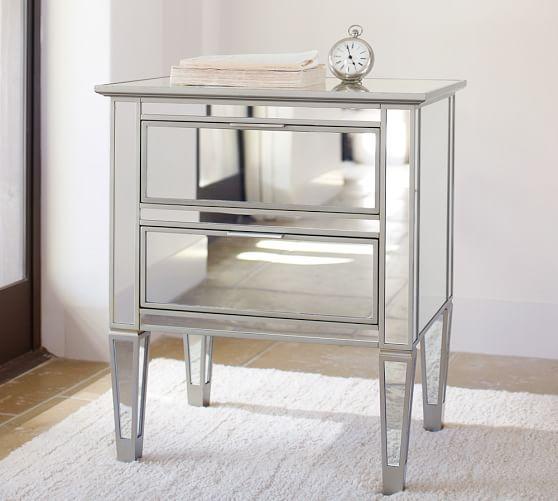 Park Mirrored Dresser Amp Bedside Tables Set Pottery Barn