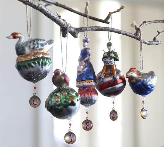 Twelve Days of Christmas Ornaments - Set of 12 | Pottery Barn