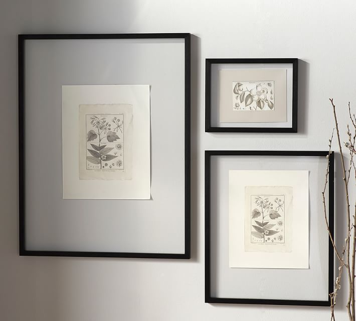 floating wood gallery frame black pottery barn