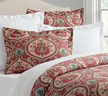 Darcy Print Duvet Cover, Full/Queen, Red Multi
