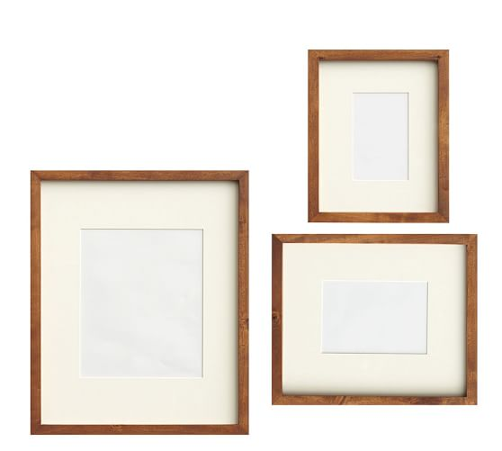 Wood Gallery Picture Frame - Set of 3, Rustic Wood