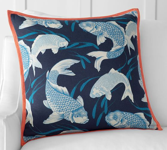 Koi fish pillow cover pottery barn for Koi fish pillow