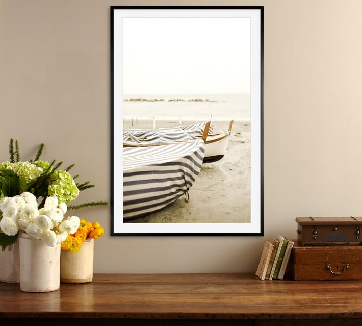 boat cover framed print by lupen grainne pottery barn