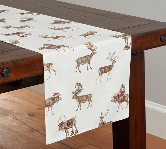 ... Silly Stag Table Runner Pottery Barn ...
