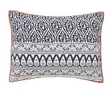 Pia Medallion Sham, Standard, Blue Multi