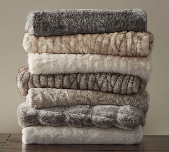 Faux Fur Throw | Pottery Barn