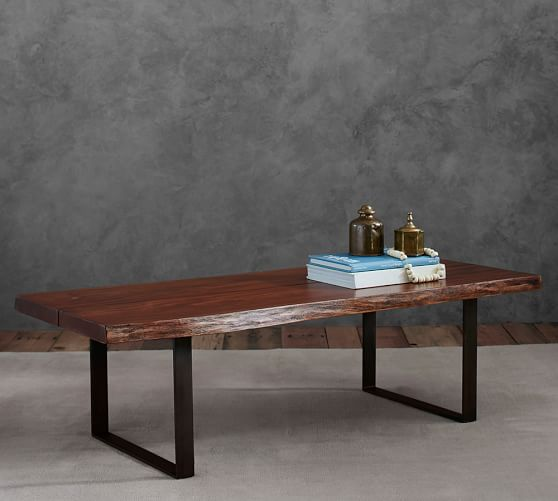 Live Edge Kitchen Table: Waller Live-Edge Coffee Table
