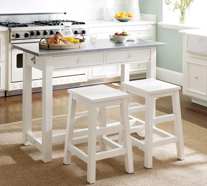 Balboa Counter-Height Table u0026 Stool 3-Piece Dining Set | Pottery Barn