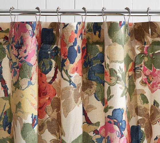 Charlotte Shower Curtain   Pottery Barn