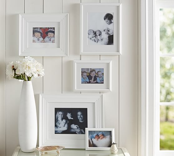 gallery in a box white frames pottery barn