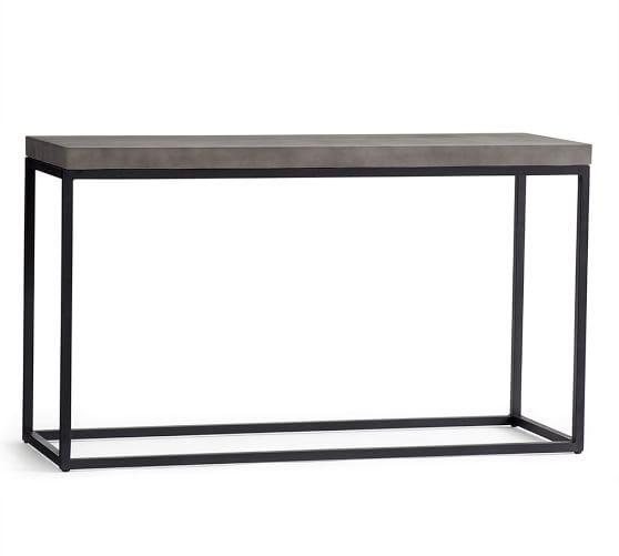 Sloan console table pottery barn - Table console modulable ...