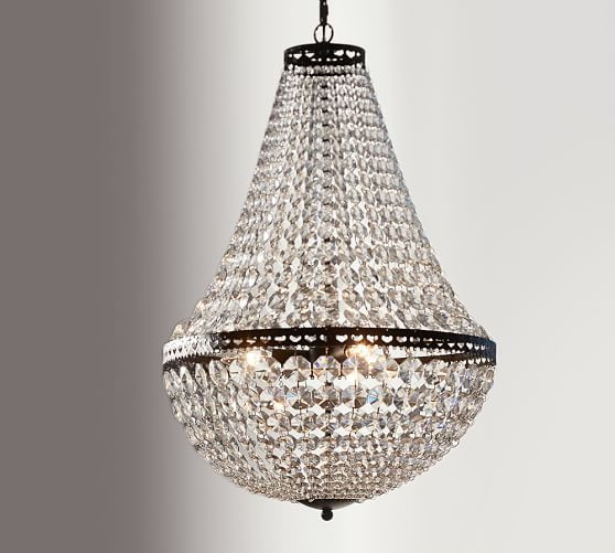 Pottery Barn Arden Chandelier: Mia Faceted-Crystal Chandelier