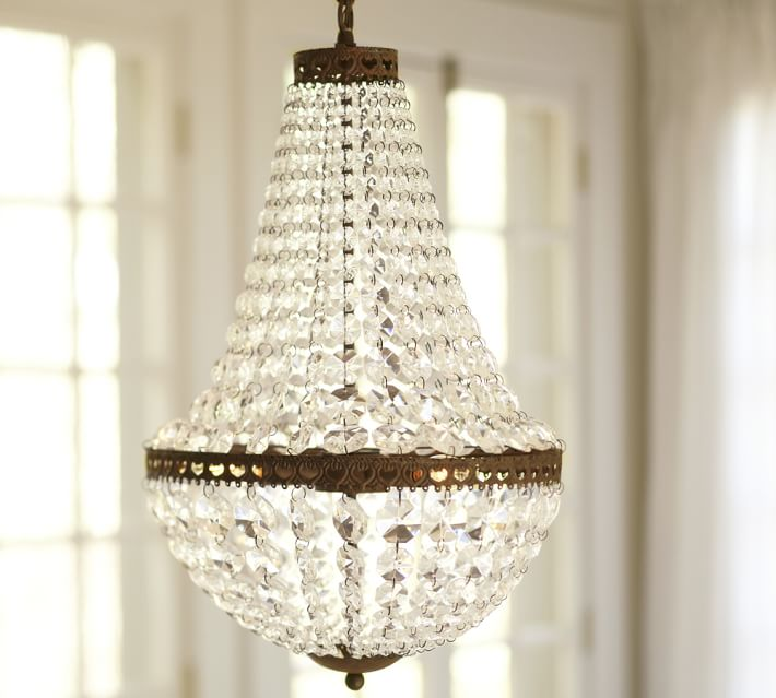 Mia Faceted-Crystal Chandelier | Pottery Barn:,Lighting