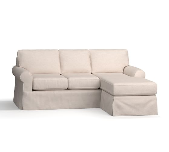 Buchanan Roll Arm Slipcovered Reversible Chaise Sectional