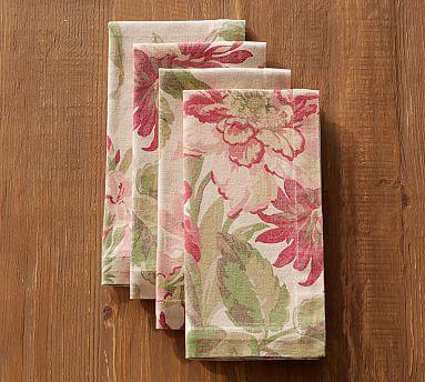 Marla Floral Napkin Set Of 4 Pottery Barn