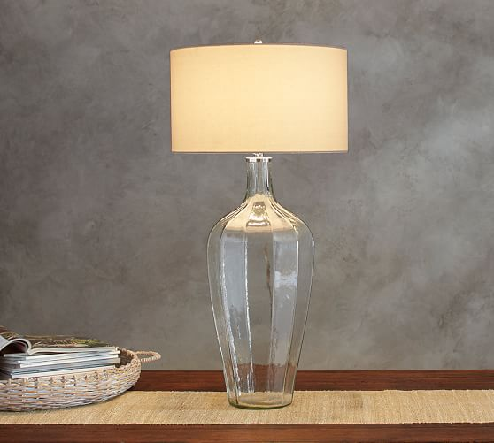 victoria faceted glass console lamp pottery barn. Black Bedroom Furniture Sets. Home Design Ideas