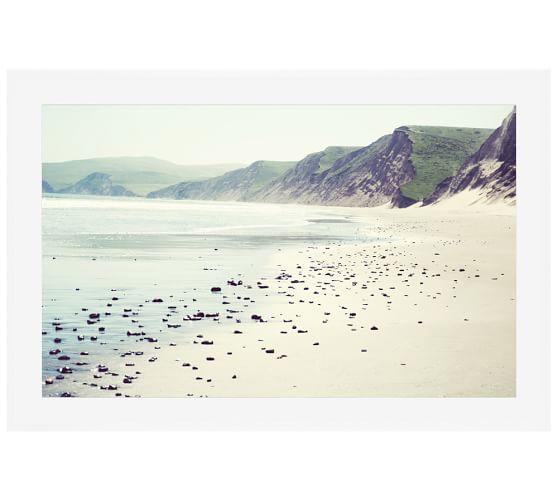 Pebbly Beach Framed Print by Lupen Grainne, 28x42