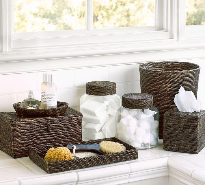 . Tava Bath Accessories   Espresso   Pottery Barn