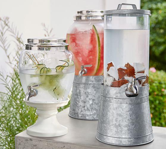 Galvanized Drink Dispenser Stand Pottery Barn