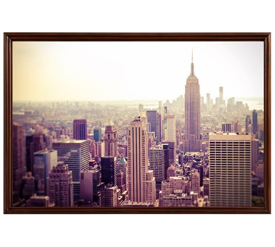 The City Framed Print By Tracey Capone, 28x42