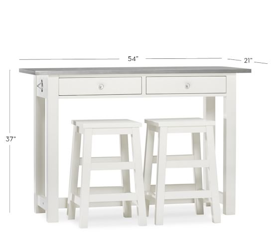 Kitchen Counter Island Table: Balboa Counter-Height Table & Stool 3-Piece Dining Set