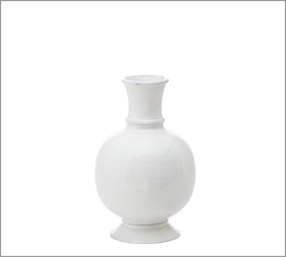Rustic White Vase, Small