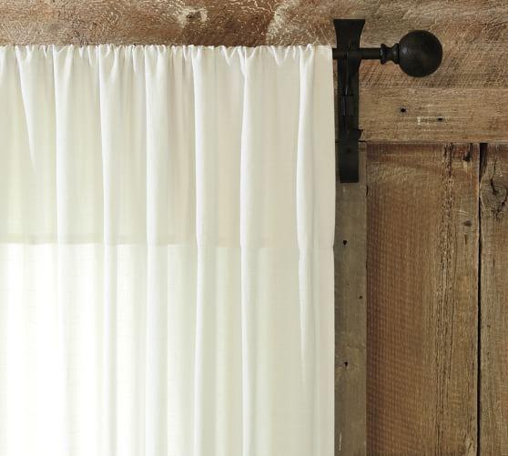 Textured Cotton Deep Pocket Drape, 50 x 63